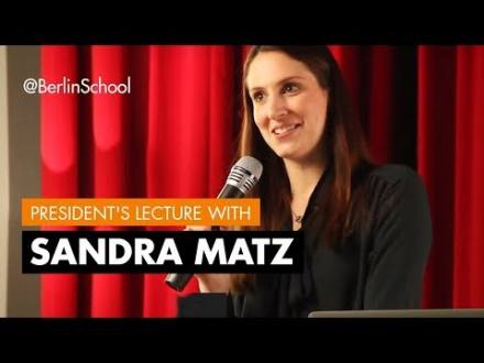 Embedded thumbnail for President's Lecture with Sandra Matz