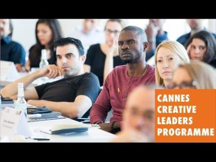 Embedded thumbnail for Cannes Creative Leadership Programme Introduction